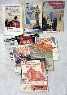 Lot 112-Brooklands British Empire Trophy Original Race Programmes