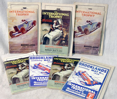Lot 114-Seven Brooklands International Trophy Programmes