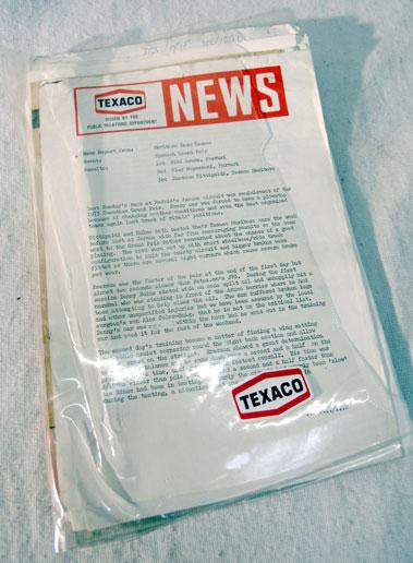 Lot 119-Texaco Marlboro McLaren Paperwork