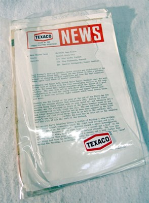 Lot 119-Texaco Marlboro McLaren Paperwork
