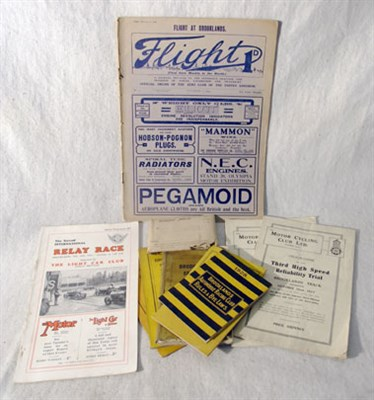 Lot 116-Brooklands Ephemera