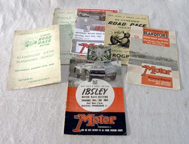 Lot 128-West Hants & Dorset Car Club Ephemera