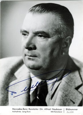 Lot 612-Dr Alfred Neubauer Signed Publicity Photograph