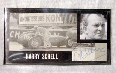Lot 613-Harry Schell Autograph