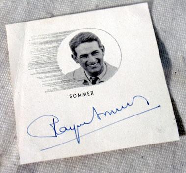Lot 615-Raymond Sommer Autograph