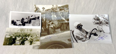 Lot 616-Signed Driver Photographs
