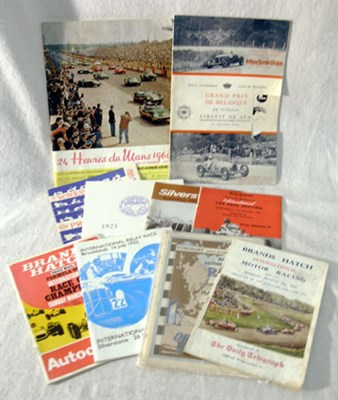Lot 129-Quantity of Race Programmes