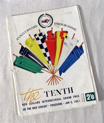 Lot 618-Signed 1963 New Zealand GP Programme