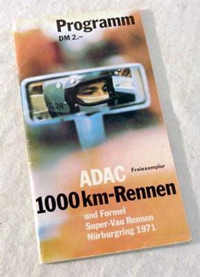 Lot 619-Signed 1971 ADAC 1000 KM-Rennen Programme