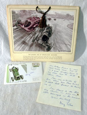 Lot 131-Kay Petre / Brooklands Ephemera