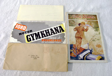 Lot 117-Pre-War Ford / Brooklands Ephemera