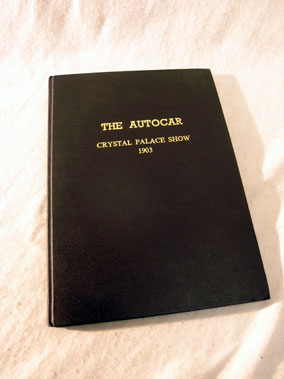 Lot 152-Crystal Palace - February 1903 Motor Show Programme (Bound)