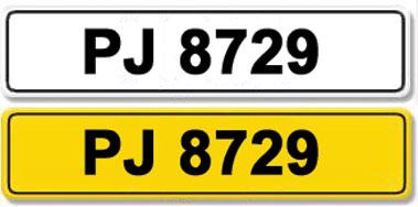 Lot 9-Registration Number PJ 8729