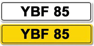 Lot 1-Registration Number YBF 85
