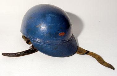 Lot 1-Peter's 'A J. Lewis' Crash Helmet