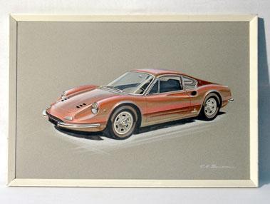 Lot 33-Ferrari Dino 246 GT Original Artwork