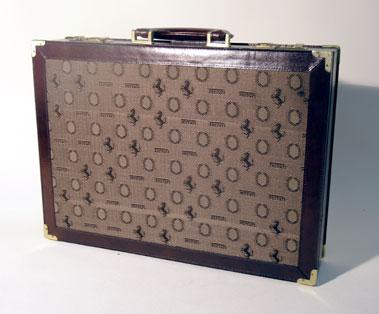 Lot 3-A Ferrari Leather Suitcase