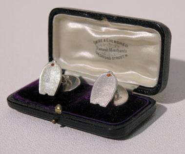 Lot 5-Early Silver Bugatti Cufflinks