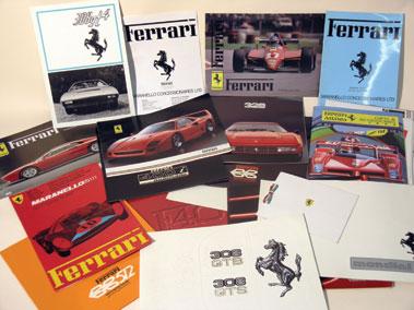 Lot 8-A Quantity of Ferrari Sales Brochures