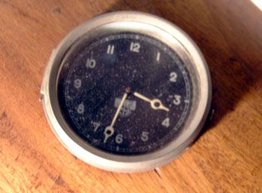 Lot 24-Wooden Aeroplane Propeller Clock