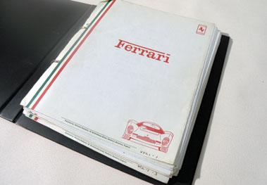 Lot 21-Assorted Ferrari Paperwork
