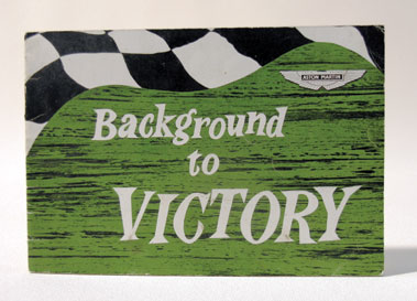 Lot 113-Background to Victory by T.H. Wisdom / Lionel Martin Signed Letter