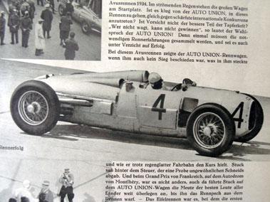 Lot 102-Auto Union Grand Prix Publicity Brochure