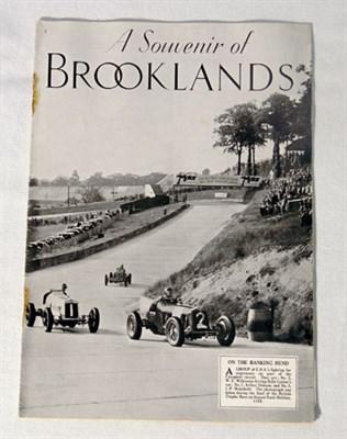 Lot 103-'A Souvenir of Brooklands'