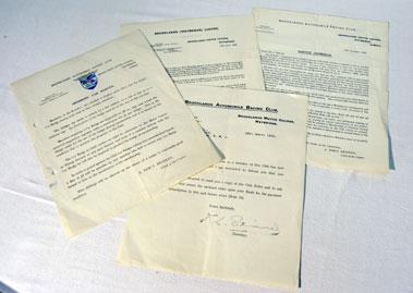 Lot 105-Brooklands Paperwork