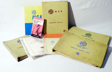 Lot 124-MGA Twin Cam & Others - Literature