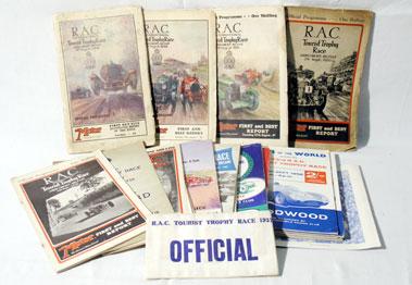 Lot 125-1928 - 1966 Tourist Trophy Programmes