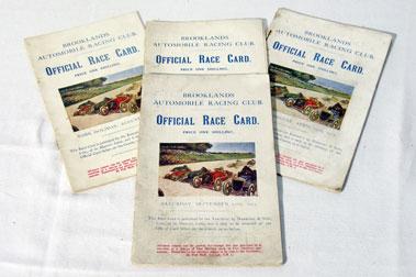 Lot 133-Four Brooklands Race Cards - 1923 - 1925