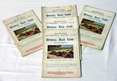 Lot 137-Five Brooklands Race Cards - 1929