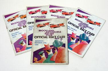 Lot 139-Five Brooklands Race Cards - 1931
