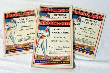 Lot 146-Five Brooklands Race Cards - 1938