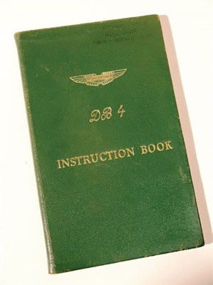 Lot 120-Aston Martin DB4 Instruction Book