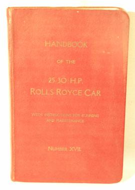 Lot 116-Rolls-Royce 25-30 H.P Handbook
