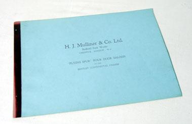 Lot 128-H. J. Mulliner & Co. Ltd / Bentley Sales Brochure