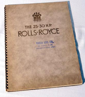 Lot 153-Rolls-Royce 25-30 H.P. Sales Brochure