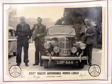 Lot 157-1952 Monte Carlo Photograph Album - Austin A40