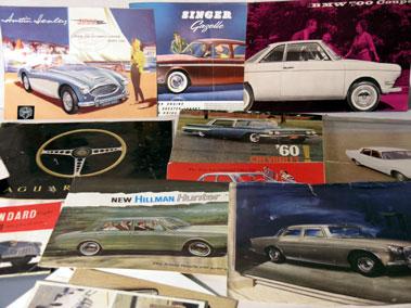 Lot 159-Quantity of Motorcar Sales Brochures & Other Literature