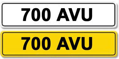 Lot 27-Registration Number 700 AVU