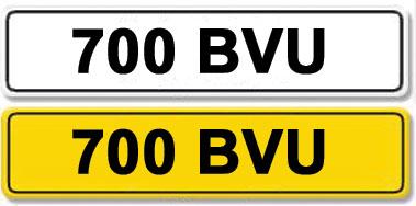 Lot 28-Registration Number 700 BVU