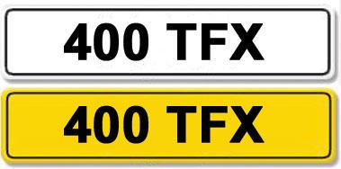 Lot 6-Registration Number 400 TFX