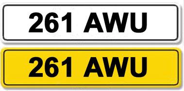 Lot 5-Registration Number 261 AWU