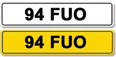 Lot 7-Registration Number 94 FUO
