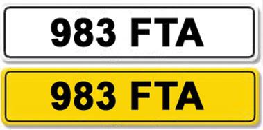 Lot 12-Registration Number 983 FTA