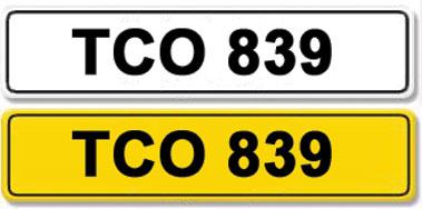 Lot 1-Registration Number TCO 839