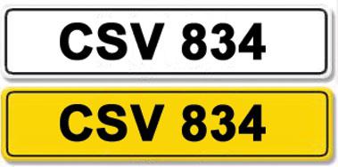 Lot 22-Registration Number CSV 834