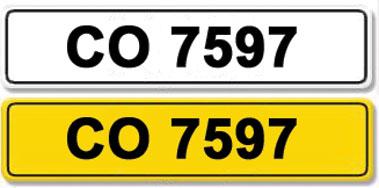 Lot 25-Registration Number CO 7597
